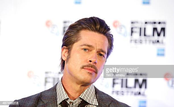Brad Pitt during the Fury Press Conference at The Corinthia Hotel during The 58th London Film Festival on October 19 2014 in London England