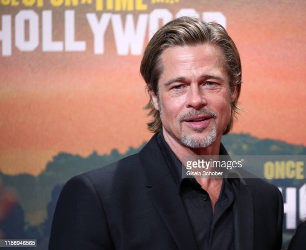 """Brad Pitt during the premiere of """"Once Upon A Time... In Hollywood"""" at CineStar on August 1, 2019 in Berlin, Germany."""