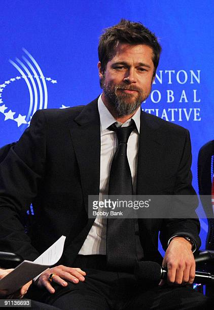 Brad Pitt Founder of Make it Right attends the 2009 Clinton Global Initiative Special Session Building A Better Future A Progress Report on Making it...