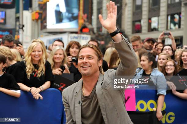 AMERICA Brad Pitt is a guest on 'Good Morning America' 6/17/13 airing on the ABC Television Network on the ABC Television Network BRAD