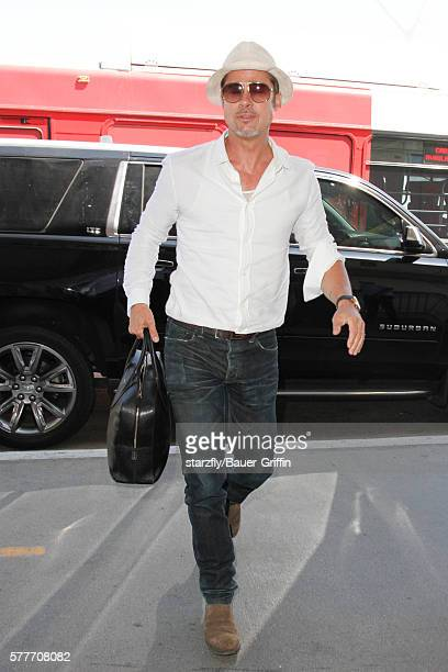 Brad Pitt is seen at LAX on July 19 2016 in Los Angeles California