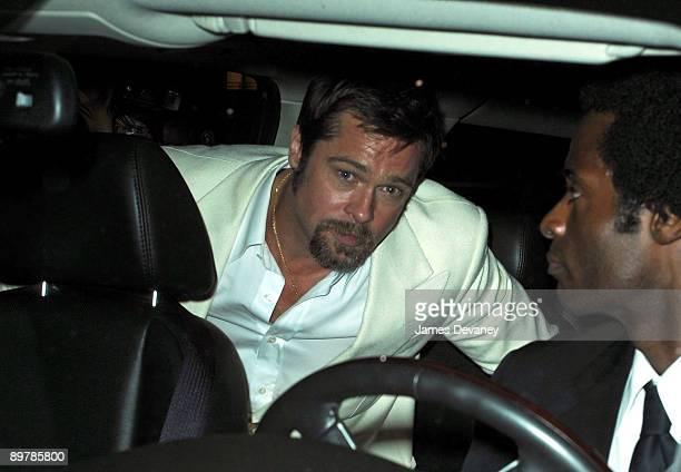 Brad Pitt is seen in Manhattan on August 12 2009 in New York City