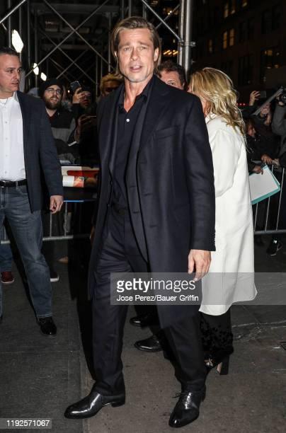 Brad Pitt is seen on January 08, 2020 in New York City.