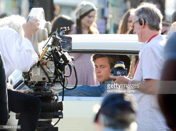 Brad Pitt is seen on July 23 2018 in Los Angeles California