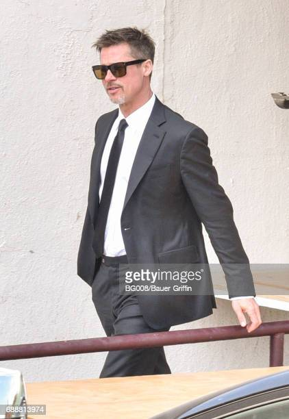 Brad Pitt is seen on May 26 2017 in Los Angeles California