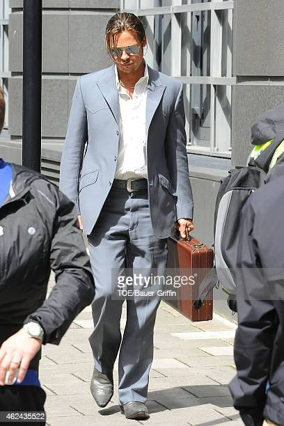 Brad Pitt is seen on the movie set of 'The Counselor' on August 04 2012 in London United Kingdom