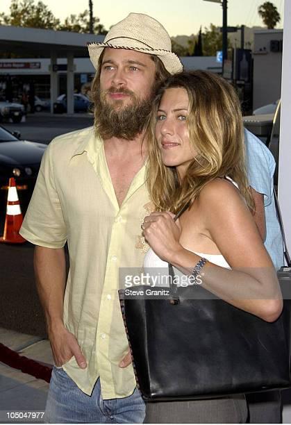 Brad Pitt Jennifer Aniston during 'Full Frontal' Premiere at Landmark Cecchi Gori Fine Arts Theatre in Beverly Hills California United States