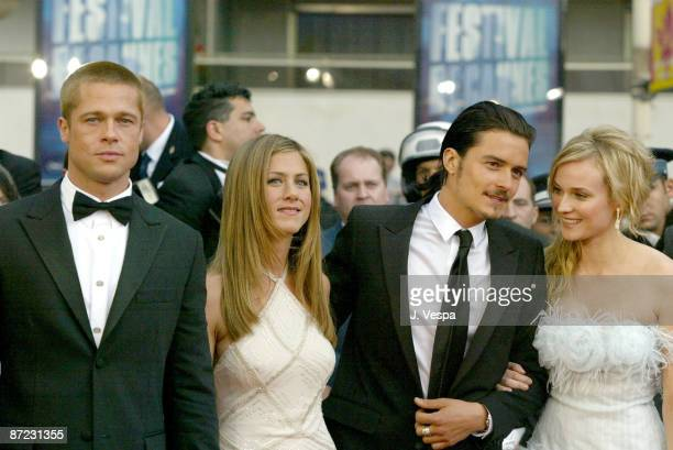 Brad Pitt Jennifer Aniston Orlando Bloom and Diane Kruger