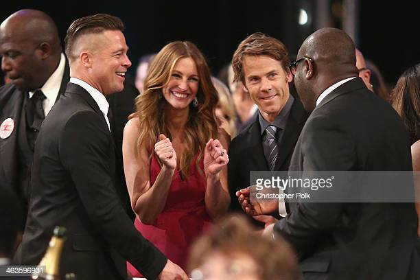 Brad Pitt Julia Roberts Danny Moder and director Steve McQueen attend the 20th Annual Screen Actors Guild Awards at The Shrine Auditorium on January...