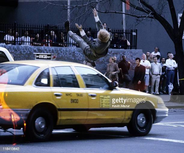 Brad Pitt lookalike dummy during Meet Joe Black On Location at Streets of Manhattan in New York City New York United States