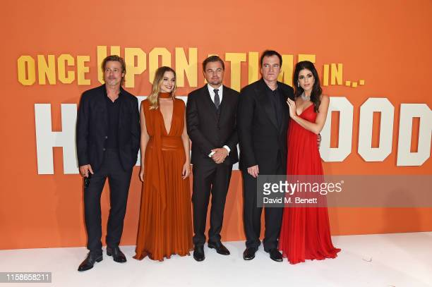 Brad Pitt Margot Robbie Leonardo DiCaprio Quentin Tarantino and Daniela Pick Tarantino attend the UK Premiere of Once Upon a TimeIn Hollywood at the...