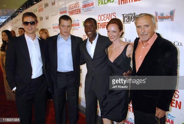 Brad Pitt Matt Damon Don Cheadle Victoria Duffy and Dennis Hopper