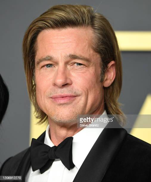 Brad Pitt poses at the 92nd Annual Academy Awards at Hollywood and Highland on February 09 2020 in Hollywood California