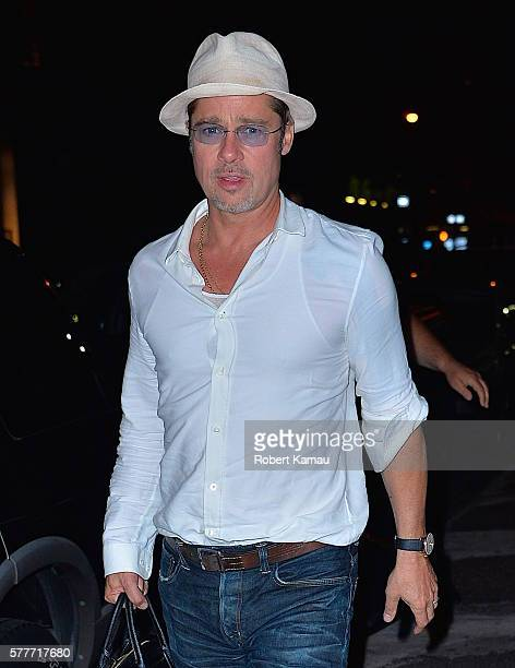 Brad Pitt seen in Manhattan on July 19 2016 in New York City