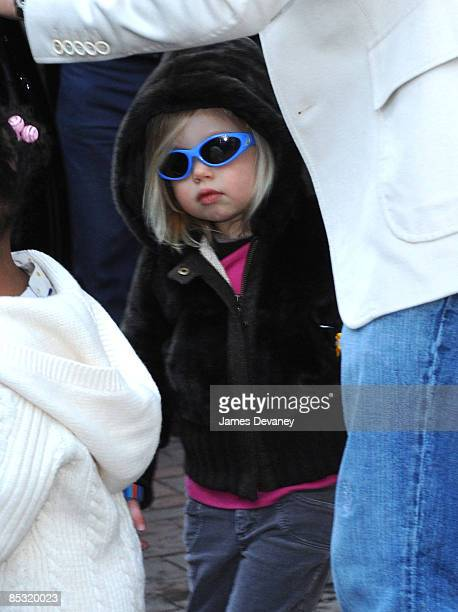 Brad Pitt Shiloh JoliePitt and Zahara JoliePitt seen leaving Tugooh toy store in Washington DC on March 6 2009