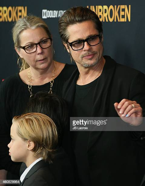 Brad Pitt Shiloh Nouvel JoliePitt and Jane Pitt attend the Unbroken Los Angeles premiere held at the TCL Chinese Theatre IMAX on December 15 2014 in...