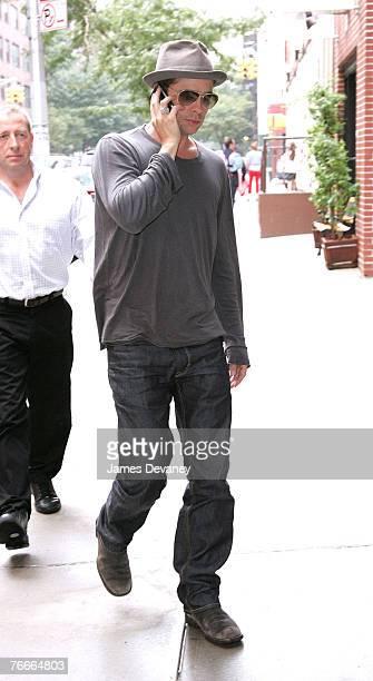 Brad Pitt Sighting on September 10, 2007 in New York.