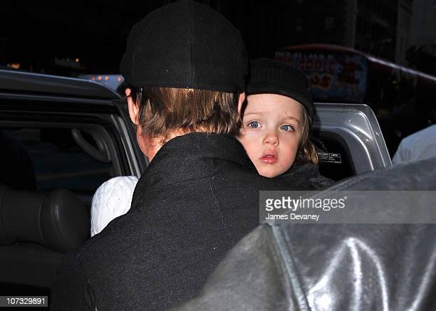 Brad Pitt visit Lee's Art Shop Knox JoliePitt on December 4 2010 in New York City