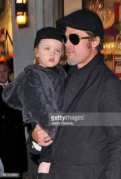 Brad Pitt visit Lee's Art Shop with Knox JoliePitt on December 4 2010 in New York City