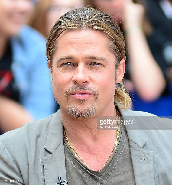 Brad Pitt visits 'Good Morning America' on June 17 2013 in New York City