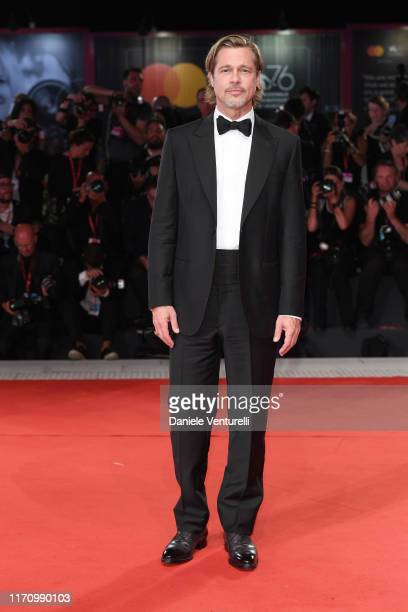 Brad Pitt walks the red carpet ahead of the Ad Astra screening during during the 76th Venice Film Festival at Sala Grande on August 29 2019 in Venice...