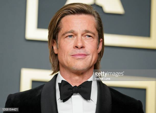 "Brad Pitt winner of Best Actor in a Supporting Role for Once Upon a Timein Hollywood"" poses in the press room during 92nd Annual Academy Awards at..."
