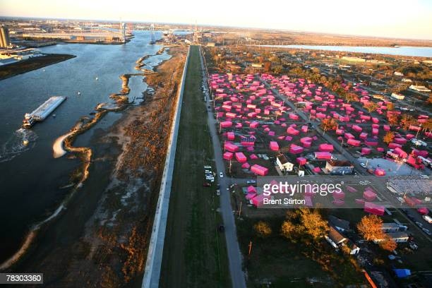 Brad Pitt's New Orleans dream the Make It Right foundation launches its primary initiative with a huge 150 Pink Houses art project in the devastated...