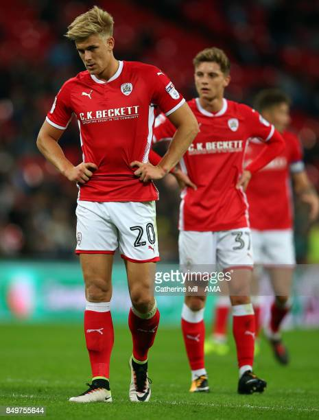 Brad Potts of Barnsley during the Carabao Cup Third Round match between Tottenham Hotspur and Barnsley at Wembley Stadium on September 19, 2017 in...