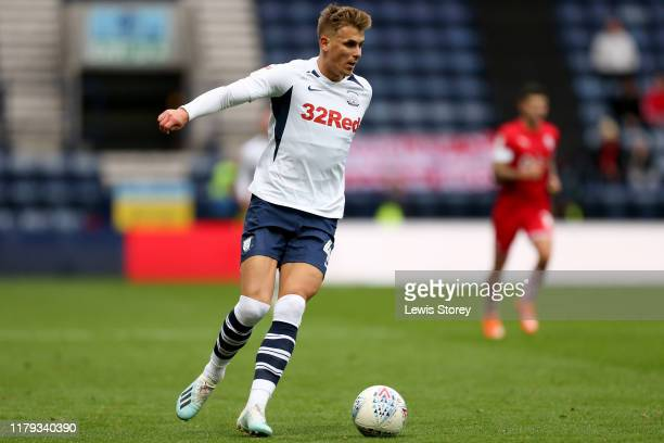 Brad Potts of Preston North End during the Sky Bet Championship match between Preston North End and Barnsley at Deepdale on October 05, 2019 in...