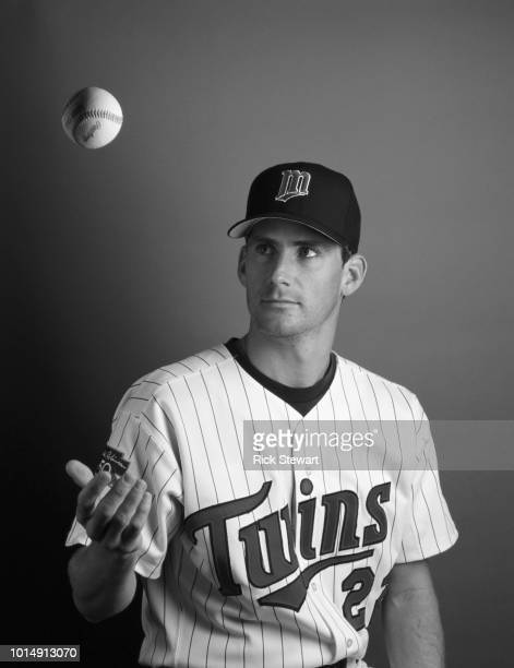 Brad Radke Pitcher for the Minnesota Twins poses for a portrait during Major League Baseball Spring Training on 23 February 1998 at Hammond Stadium...