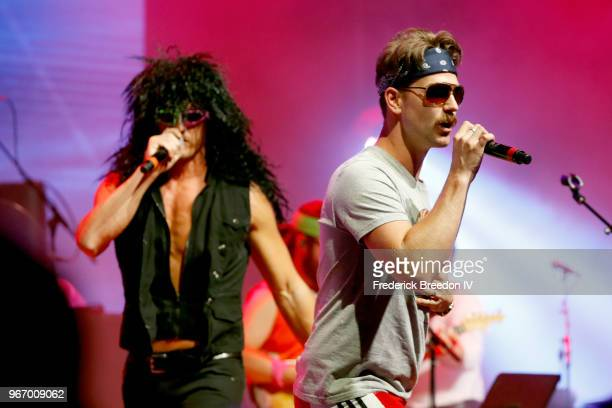 Brad Rempel and Curtis Rempel of musical duo High Valley perform onstage during Nashville '80s Dance Party benefiting The Alzheimer's Association at...