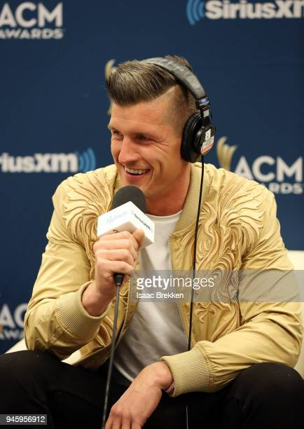 Brad Rempel of the band High Valley attends SiriusXM's The Highway channel broadcast backstage from the Academy of Country Music Awards on April 13...
