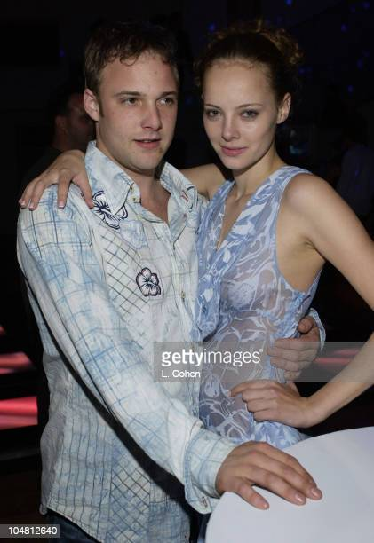 Brad Renfro and Bijou Phillips during Rock The SIMS Online Launch Party at Private Residence in Hollywood California United States