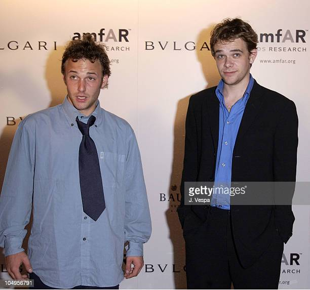 Brad Renfro and Nick Stahl during Venice 2001 amfAR's Cinema Against AIDS Benefit Sponsored by Bulgari at Fondazione Giorgio Cini Isola San Giorgio...
