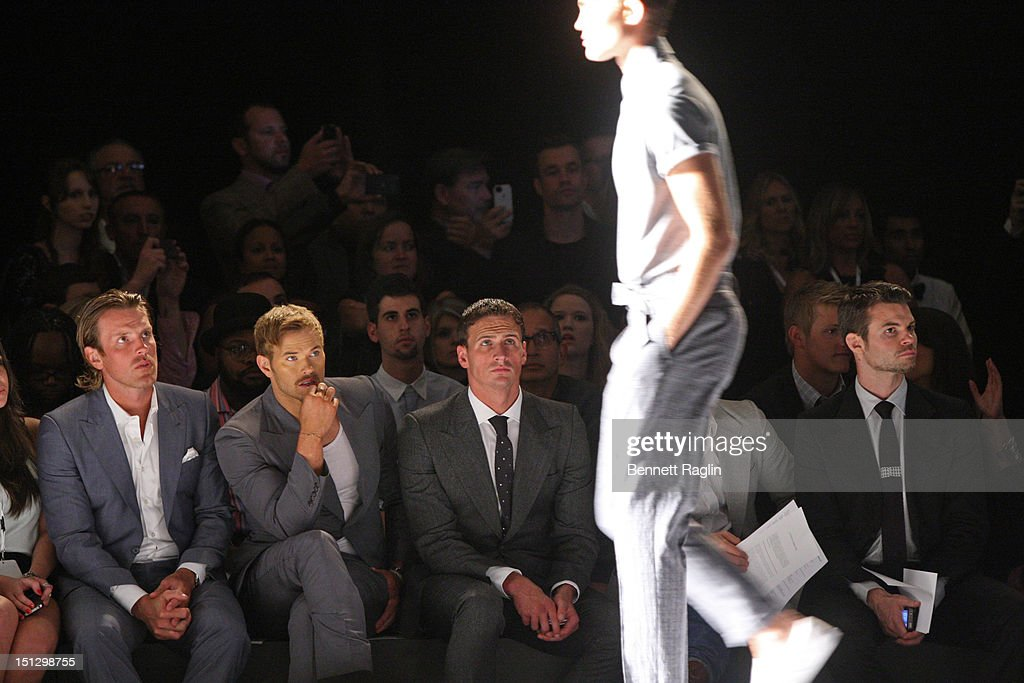 Joseph Abboud - Front Row & Backstage - Spring 2013 Mercedes-Benz Fashion Week