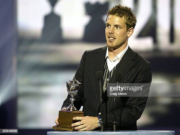 Brad Richards of the Tampa Bay Lightning winner of the Lady Byng Trophy, awarded annually to the player adjudged to have exibited the best type of...