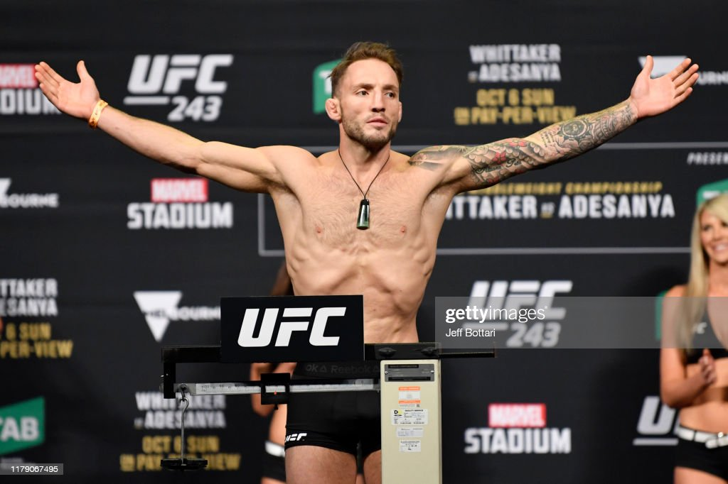 UFC 243 Whittaker v Adesanya: Weigh-Ins : Nieuwsfoto's