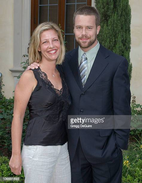 Brad Rowe and wife during Chrysalis's 5th Annual Butterfly Ball Arrivals at Italian villa of Carla and Fred Sands in Bel Air California United States