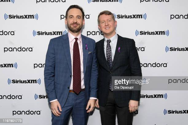 Brad Rutter and Ken Jennings visit SiriusXM Studios on January 06 2020 in New York City