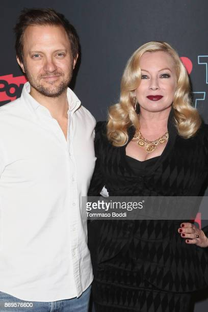 Brad Schwartz and Traci Lords attend the Premiere Of Pop TV's 'Hot Date' held at Estrella on November 2 2017 in West Hollywood California