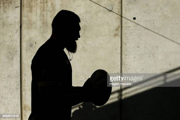 Brad Shields of Wellington walks through the players tunnel during the Mitre 10 Cup Championship Final match between Wellington and Bay of Plenty at...