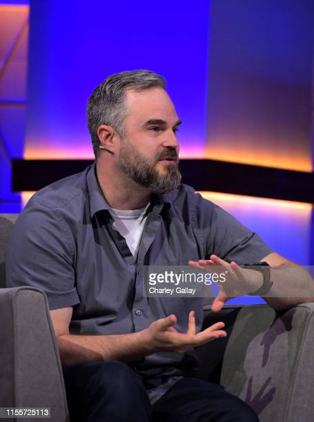 Brad Shuber speaks onstage at the 'Minecraft The Next Ten Years' panel during E3 2019 at the Novo Theatre on June 13 2019 in Los Angeles California