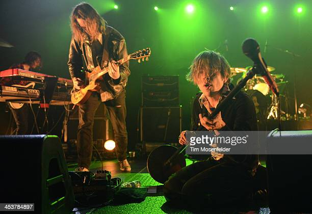 Brad Shultz and Matthew Shultz of Cage the Elephant perform as part of Radio 947's Electric Christmas at Sleep Train Arena on December 4 2013 in...