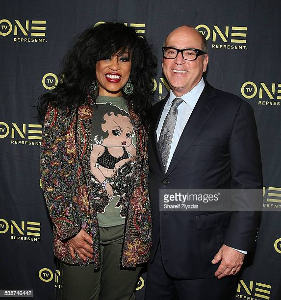 Brad Siegel and Miki Howard at Love Under New Management The Miki Howard Story at AMC Empire on June 7 2016 in New York City