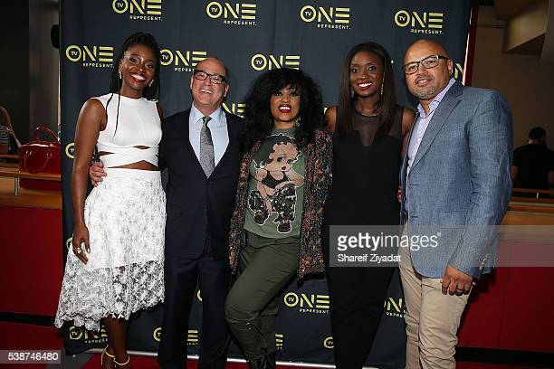 Brad Siegel Teyonah Parris Miki Howard Lola Ogunnaike and Jubba Seyyid at Love Under New Management The Miki Howard Story at AMC Empire on June 7...