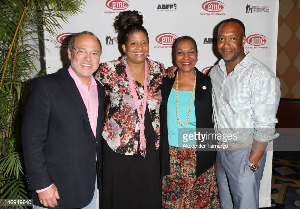 Brad Siegel, Tracey Tooks, DeEtta West and Jeff Friday are seen at the 2012 gmc sceenplay compettiton live table read at ABFF 2012 at Ritz Carlton...