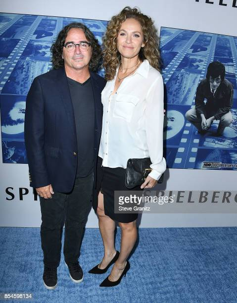 Brad Silberling Amy Brenneman arrives at the Premiere Of HBO's 'Spielberg' at Paramount Studios on September 26 2017 in Hollywood California