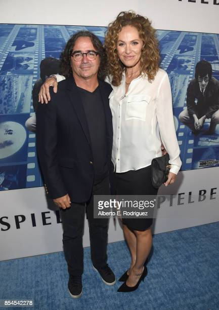 Brad Silberling and Amy Brenneman at the Premiere Of HBO's 'Spielberg' at Paramount Studios on September 26 2017 in Hollywood California