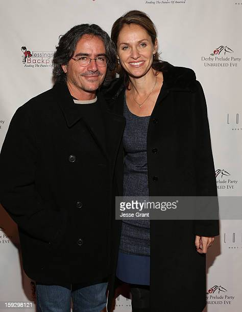 Brad Silberling and Amy Brenneman attend The 4th Annual Unbridled Eve Derby Prelude Party at The London West Hollywood on January 10 2013 in West...