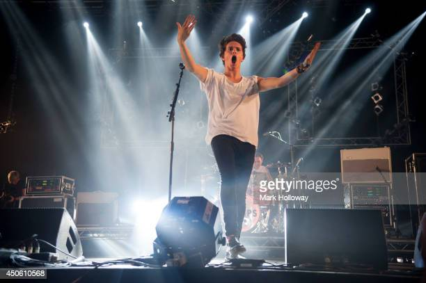 Brad Simpson of The Vamps performs at The Isle of Wight Festival as Seaclose Park on June 14 2014 in Newport Isle of Wight